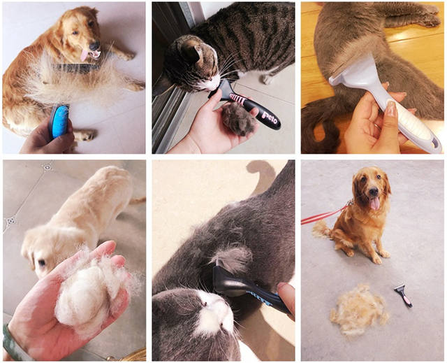 Pet Dog Cat Hair Removal Brush Comb Furmins Pet Grooming Tools Hair Shedding Trimmer Comb for Dogs Cats