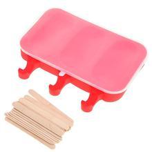 Силиконовый мороженое Mold Popsicle Maker Овальный торт Шоколадная форма Ice Ice Tray Cube Ice Lolly Maker Holder Kitchen Tool