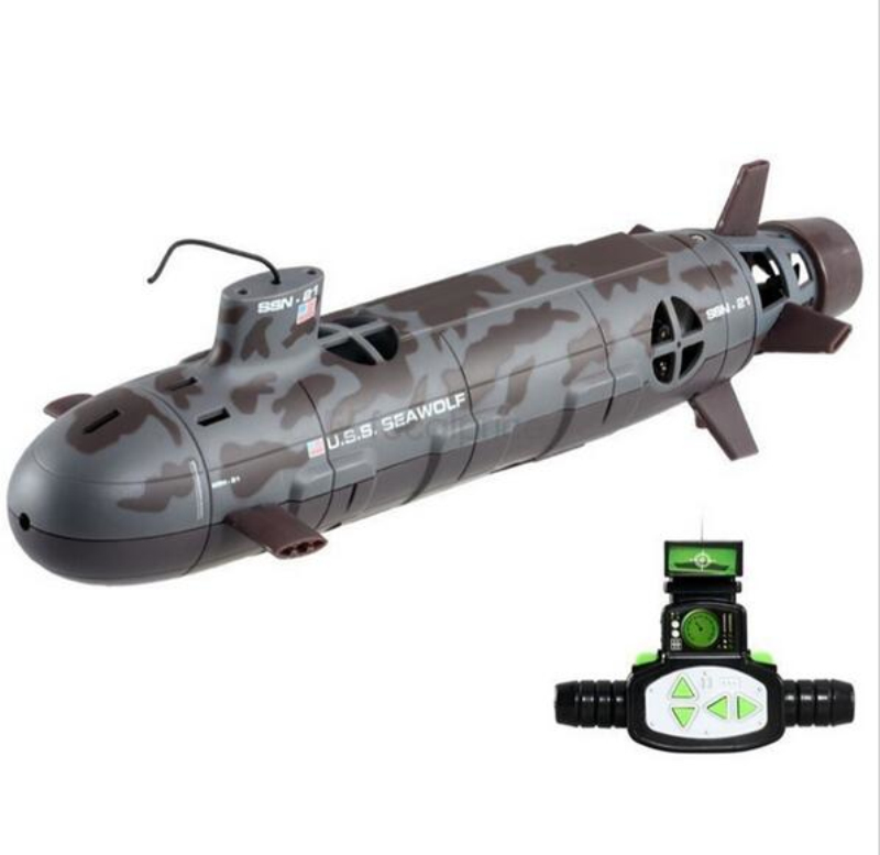 Omnibearing Remote Control Seawolf Upgrade Version RC Big Submarine 6-Channel 35cm RC Nuclear Power Submarine Kids Toy