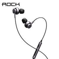 ROCK Mubow Stereo Earphone In Ear Space Series Metal Earphones With Microphone Headset For IPhone Samsung