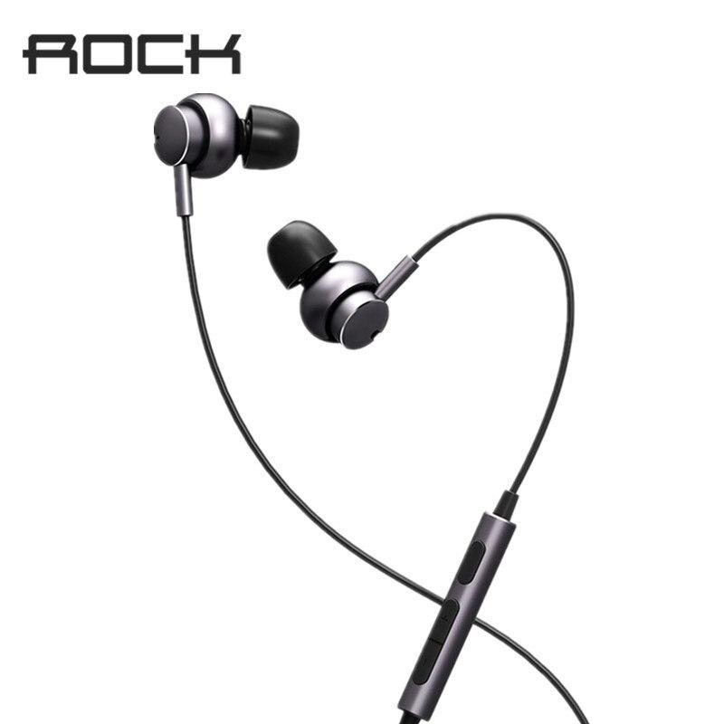 ROCK Mubow Stereo Earphone In-Ear Space Series Metal Earphones with Microphone Headset For iPhone Samsung Huawei Xiaomi