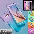 Противоударный Водонепроницаемый Грязи устойчивостью Анти-knok 360 Hard Case Cover Закаленное Стекло Для Samsung S6 S7/iPhone 5 6 S 7