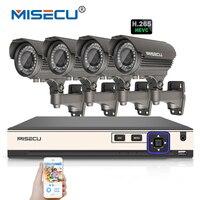 MISECU H 265 4 0MP 4K 48V 2 8 12mm Zoom 4Ch POE Surveillance CCTV System