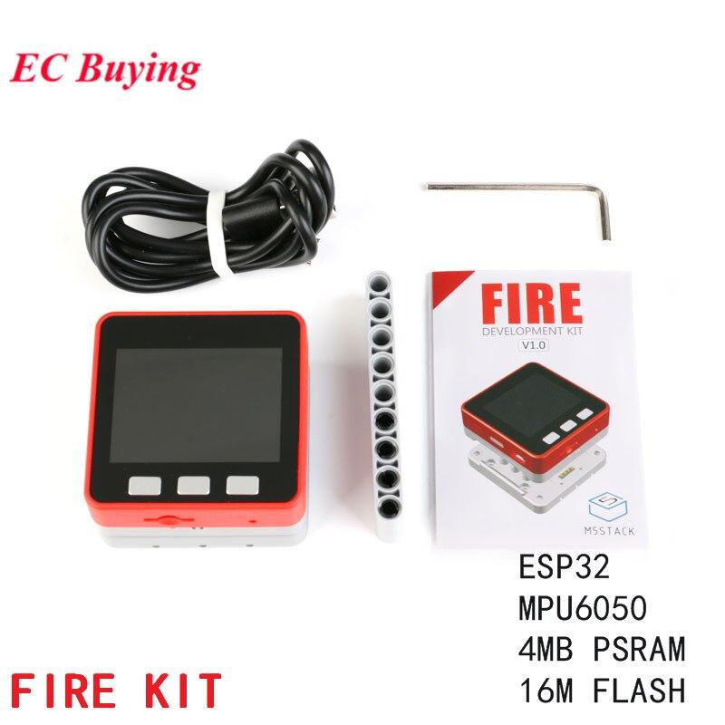KIT d'incendie M5Stack ESP32 + MPU6050 + 16 M FLASH + 4 mo Kit de carte de développement PSRAM de Micropython bricolage