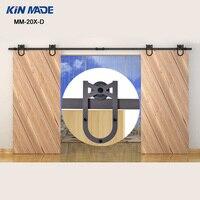 KIN MADE MM 20X D Double Sliding Barn Door Heavy duty modern wooden sliding barn door hardware