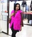 Fashion lady ostrich wool vest