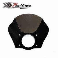 Motorcycle Black Gauntlet Headlight Fairing W Kit For Harley XL 1200 883