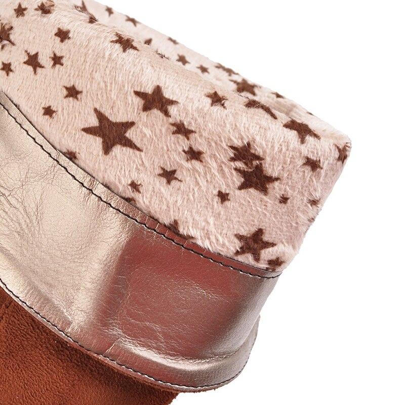 Tamaño Media Razamaza Pantorrilla Tacón El Caliente Zapatos Mujeres Corto 34 rojo Piel Medio 40 Invierno De Para La Botas Alto Frío Calzados amarillo Negro qAqUZ