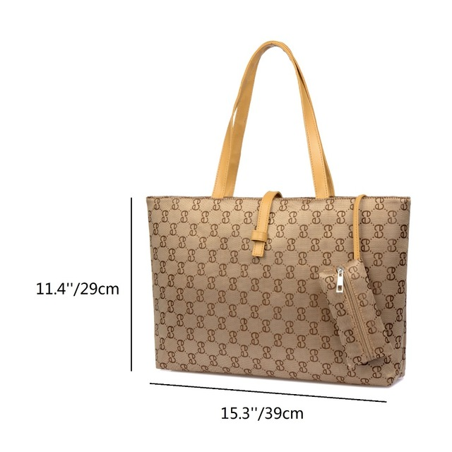 ZENTEII Women Faux Synthetic Leather Handbag Tote Shipping Bag