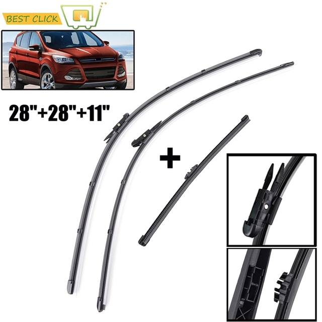 Misima Windshield Wiper Blades Set Windscreen Fit For 2017 Ford Kuga Escape Front Rear