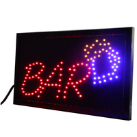 CHENXI LED Bar Pub Beer Drinking Store Shop Open Neon Signs Animated Motion Running Sign Board 10X19 Inch Indoor Advertising LED