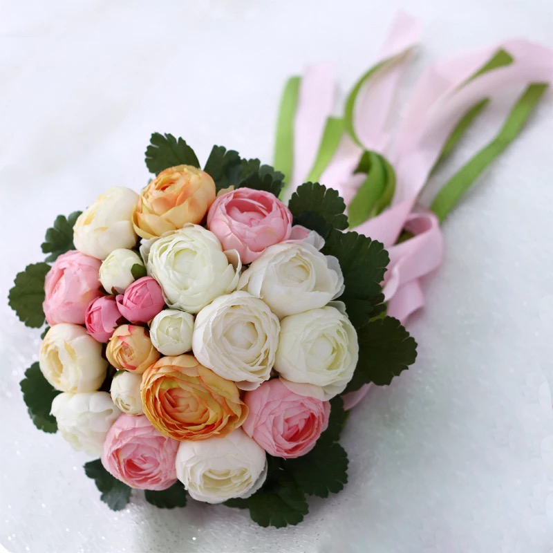 Rose Flowers Bridal Wedding Bouquets 20 Handmade Flowers Wedding - Bruiloft accessoires - Foto 2