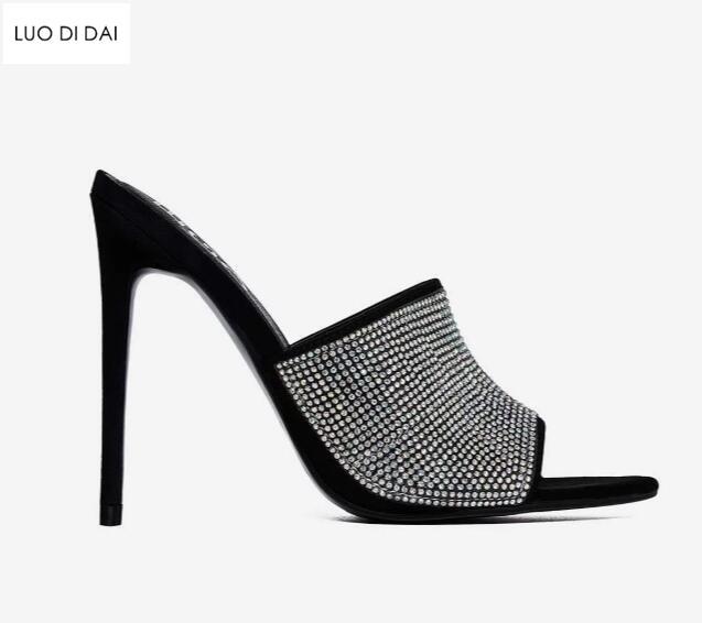 Chaussures D'été Sandales Glitter Toe Noir Nouveau Jaune 2019 D9IEHYW2