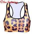 3D Tiger Leopard Milk grain Snake Zebra pattern personality sporting bra in women's bras runs sporting bra women fitness push up