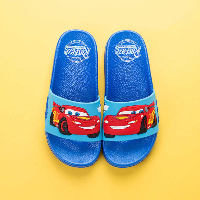 b5844ca45996 ... Disney Brand Baby Boys Slippers Cars Cartoon Animation Shoes Kids Beach  Bathing Anti-slippery Mules