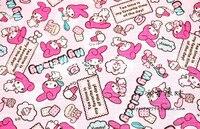 148 90cm Cartoon Lovely Rabbit Melody Thicken Sewing Nylon Waterproof Fabric Raincoat DIY Handmade Material Sewing