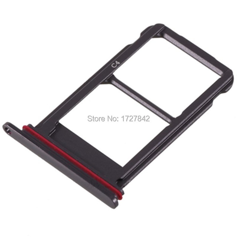Dual SIM Card Tray Slot Holder Adapter For Huawei Mate 10 Pro SIM Holder Slot Tray Container Parts Rose Gold/Silver/Black