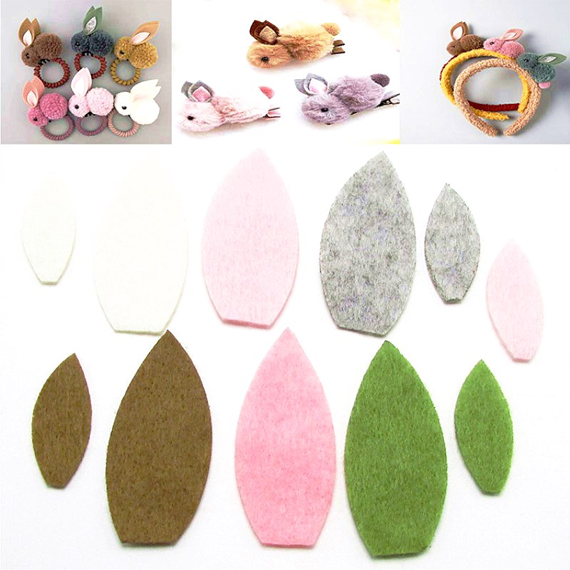 100 Pcs Elf Felt Fabric DIY Crafts For Kids Manual Felt Flowers Animals Toys Hairpin Clip Headwear Scrapbook Decor Accessories