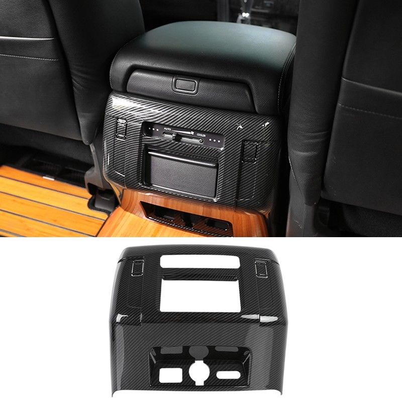 ABS Rear Armrest Box Air Vent Outlet Cover Trim For Nissan Patrol Y62 2010-2018 Interior Mouldings Accessories New Fashion