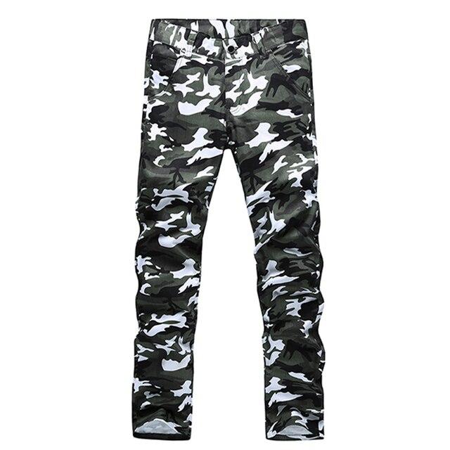 Бренд мужской прямые случайные штаны мужчины хлопок тонкий военный Камуфляж Брюки-Карго вне армии комбинезоны pantalon homme