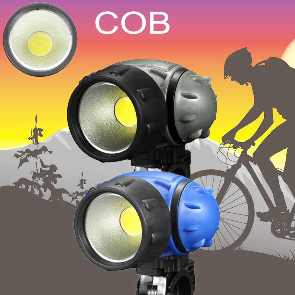Bicycle Bike COB LED Headlight Front Ride Riding Cycling Head Light Lamp AAA