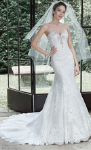 Simple Crystal Beading Sweetheart Mermaid Bridal Gown Sleeveless Strapless Applique Wedding Dress Lace-up NM 543