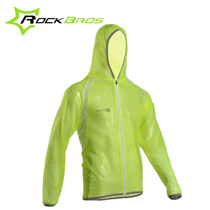 ROCKBROS Breathable Cycling Raincoat Sets Waterproof Windproof MTB Bicycle Raincoat Suit 3 Colors Outdoor Bike Riding