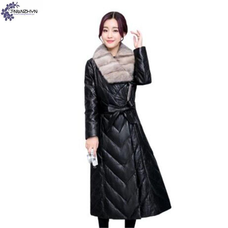 TNLNZHYN Women clothing warm cotton coat winter new fashion thickening Fur collar long high-end female cotton Outerwear QQ602
