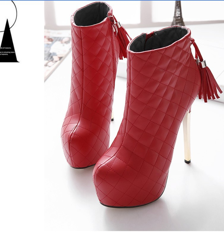 Hot selling 2016 New Fashion High Fine with Waterproof Boots font b Women s b font