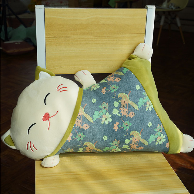 Janpan Anime Cat Plush Toy Lucky Cat Action Figure Calling Bring Money Rich Cat Stuffed Soft Doll Plush Toy kids Cartoon Pillow