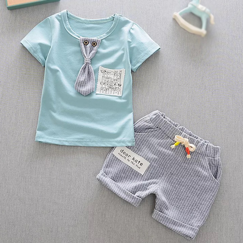 Baby Set T Shirt And Shorts 2pcs Baby Boy Clothes Summer 1st Birthday Baby Boy Clothing Set Newborn Outfit 2pcs set baby clothes set boy