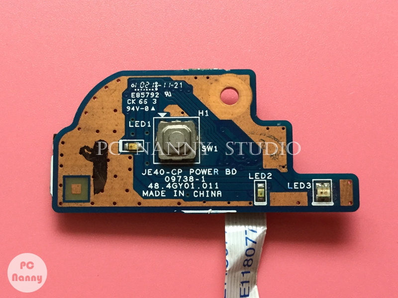 Computer & Office Nokotion Original For Acer 4741 4551 4741g Power Switch Botton Board W/ Cable 48.4gy01.011 Works Soft And Light