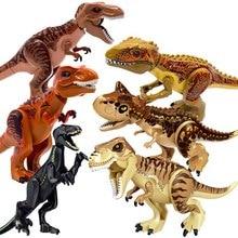 1pcs Brutal Raptor Building Jurassic Blocks World 2 MINI Dinosaur Figures Bricks Toys For Children