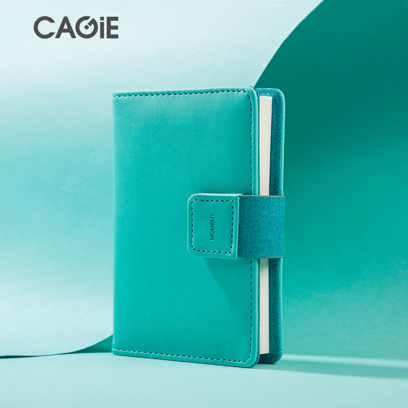 CAGIE Mini Diary Pocket Notebook A7 Cute Lines Pages Magnetic Filofax libretas y cuadernos mini Small Leather Journal Notebooks diary with lock cagie cute diary cloth cover a7 mini notebook lined pages paper notebooks personal journal beautiful notepad