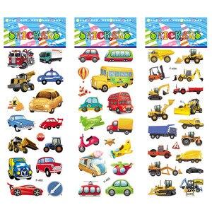 12 различных листов Crtoon, наклейки для автомобиля, самолетом, DIY, игрушки, ПВХ, альбом для скрапбукинга для детей, дневник, украшение для ноутбука, подарки