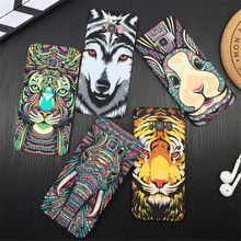 Fantastic Night Glow Animal Cases For Samsung Galaxy S10 S9 S8 Plus S7 Edge Note 8 9 Tiger Elephant Wolf Ultra Thin Phone Cover(China)