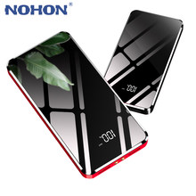 NOHON 10000mAh Dual USB Power Bank For iPhone LG Android Digital Display Noble External Battery Phone Charger With LED Lighting(China)