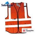 Salzmann High Quality Visibility Reflective Safety Vests Environmental Sanitation Coat 3M safety vest