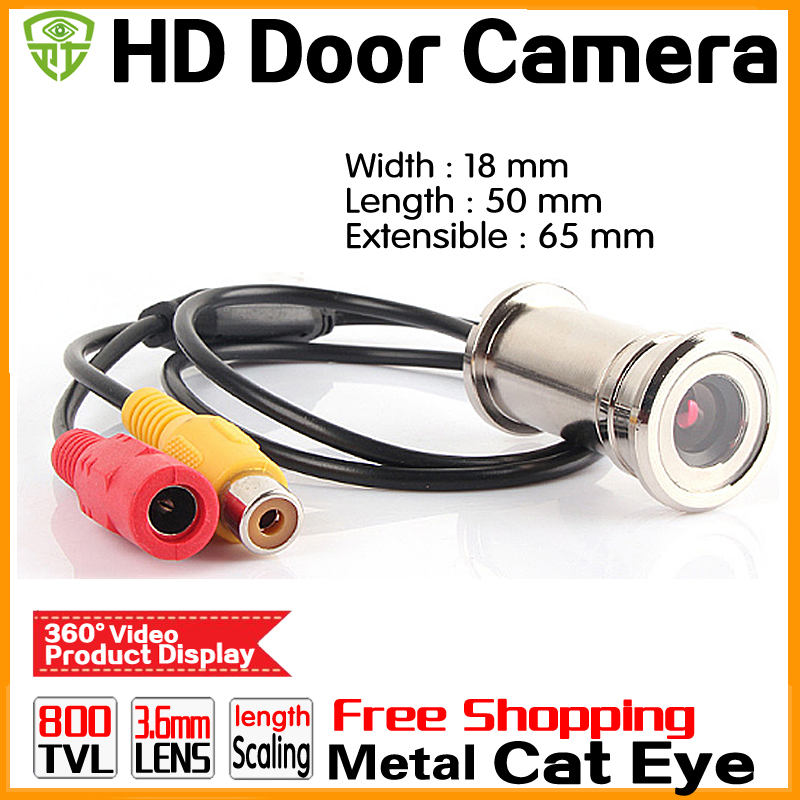 3.28BigSale HD 800TVL Cat Eye Door Hole Security Color Camera CMOS 3.6mm peephole cctv Video Security Surveillance mini camera