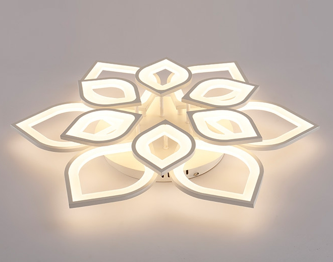 Flower Shape Led Ceiling Lights Ultra-thin Acrylic Lampshade Living Room Bedroom Balcony Decoration Ceiling Lamp Fixture
