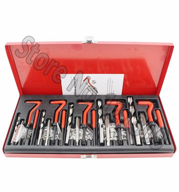 131PC THREAD/RETHREAD REPAIR KIT/SET M5 M6 M8 M10 M12 METRIC 42pc unf unc metric rethread bolt kit thread file repair tap tool restorer kit