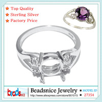Beadsnice ID27354 925 Sterling Silver Fine Jewelry Accessories Wholesale Diy Handmade Unique Semi Mount Ring Settings