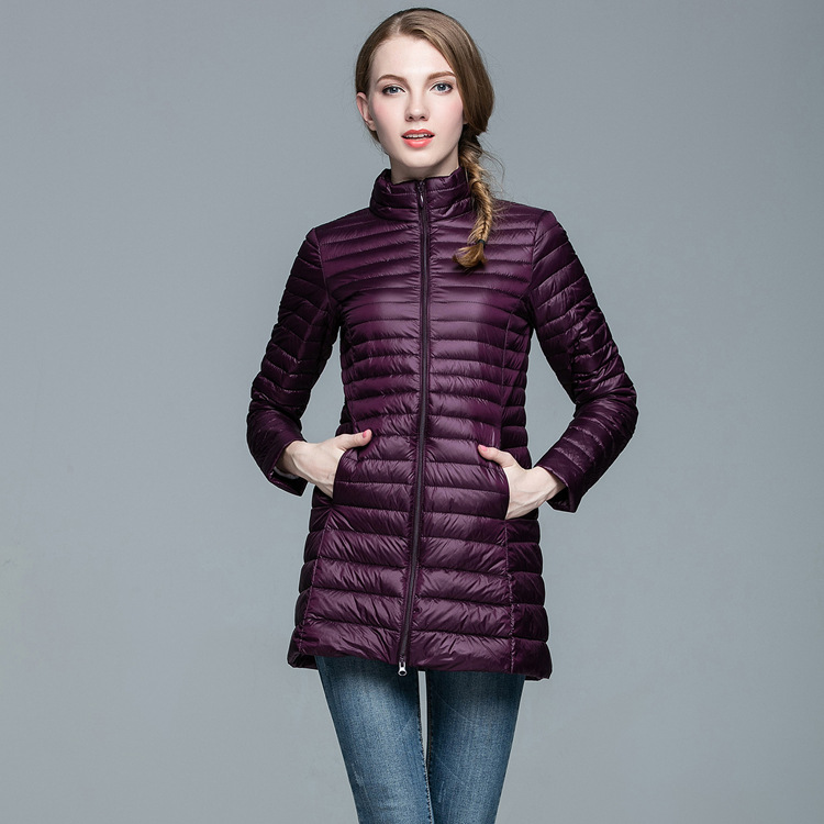 Women Winter   Down   Jacket Overcoats 90% White Duck   Down   Ultra Light   Coat   Women Mid-length   Coat   Parkas