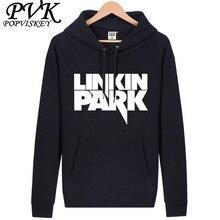 POPVISKEY Бренд Толстовки мужские Случайные Футболка Мужской Linkin Park Толстовки Теплый Хлопок Толстовка Бесплатная Доставка