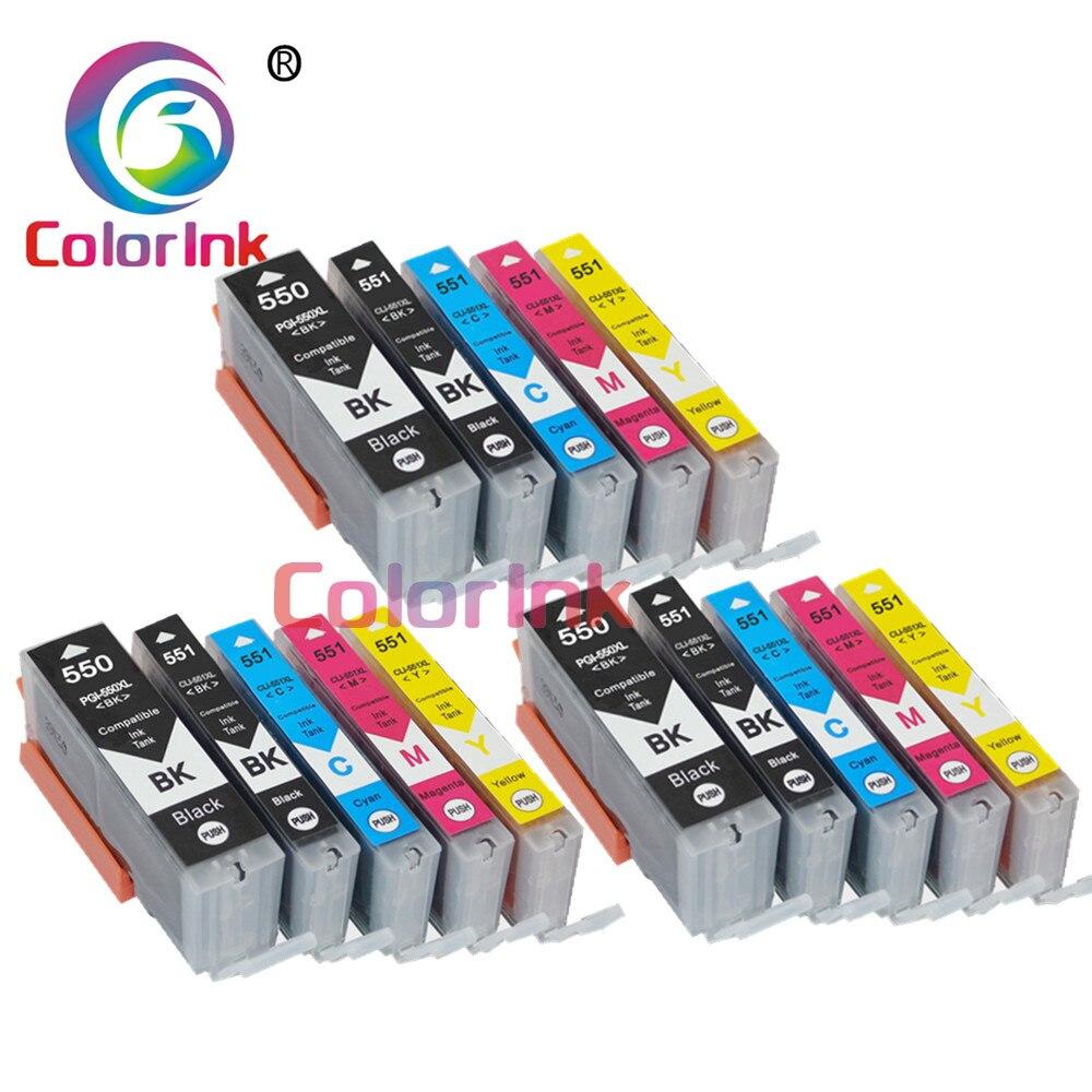 Цветной чернильный картридж 550XL 551XL pgi-550 pgi 550 cli-551 XL PGI550 CLI551 для Canon PIXMA IP7250 MG5450 MX925 MG5550 6450 5650