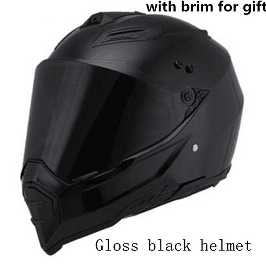 Nouveau casque de Moto hommes casque intégral Moto équitation ABS matériel aventure Motocross casque Moto avec bord de soleil enlevé