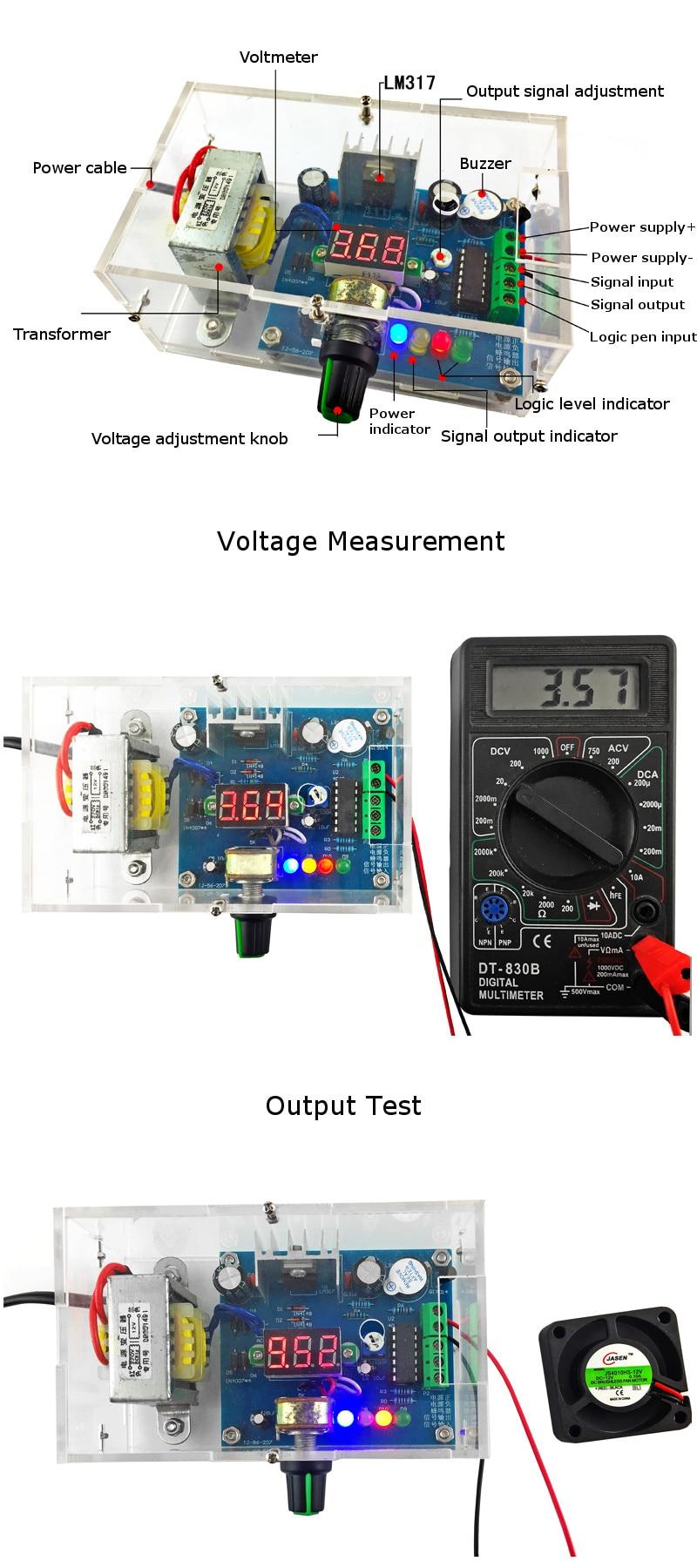Diy Ac 220v To Dc 125v 12v Lm317 Adjustable Voltage Power Supply An Breadboard By 1 X Board Kit