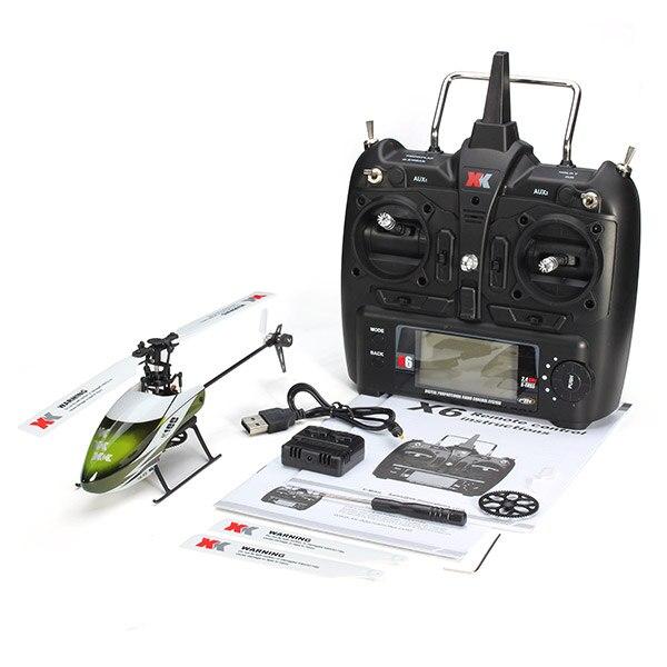 Wltoys XK K100 Falcom 6CH Flybarless 3D 6G Système télécommande jouet Moteur Brushless RC Hélicoptère RTF VS Wltoys V977