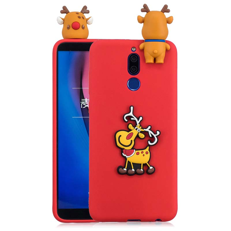 For Mate 10 Lite Christmas Gift Tree Hat 3D Soft Silicone Case For Huawei Mate 20 Lite Honor 9 Lite 7C Back Cover