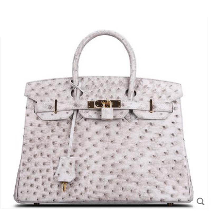 Cestbeau Ostrich Skin Female Bag women bag full of beans South Africa imports KK Ostrich leather  Retro Himalaya south africa argentina